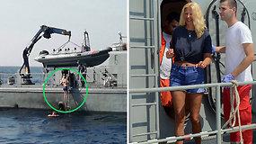 Stebuklas: iš kruizinio laivo iškritusi ir 10 val. jūroje praleidusi britė rasta visiškai sveika