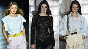 Kendall Jenner, Bella ir Gigi Hadid ir  kitos žvaigždės pristatė Alberta Ferretti kolekciją