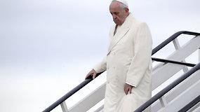 Popiežius Pranciškus atvyko į Latviją