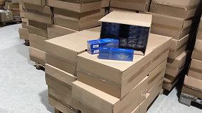 Klaipėdoje policija sulaikė  beveik pusantro milijono eurų vertės cigarečių kontrabandą