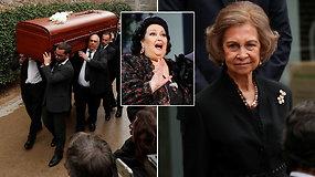 Ispanijos karališkoji šeima, politikai ir kolegos atvyko atsisveikinti su operos primadona Montserrat Caballe