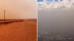 Dangus nusidažė raudonai: tokia audra Australijoje siaučia pirmą kartą per dešimtmetį