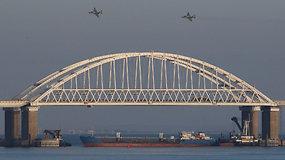 Kerčės sąsiauryje Rusija atidengė ugnį: sužeisti šeši Ukrainos karo jūreiviai, norima įvesti karo padėtį
