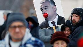 """Priimtas """"vergų įstatymas"""" Vengrijoje iššaukė protestų bangą"""