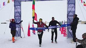 Ekstremaliame Antarktidos maratone lietuvė iškovojo istorinę pergalę