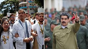 Venesuelos lyderių konfrontacija gresia virsti kariniu konfliktu