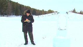 Ežeras padės išpildyti žmonių norus – ant ledo knygos surašytos svajonės ištirps pavasarį