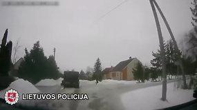 Linkuvoje nufilmuoti bėgliai nevykėliai: nepaspruko nei vogtu mikroautobusu, nei pėsčiomis