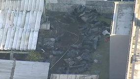 Brazilijoje per gaisrą populiariausio šalies futbolo klubo pastate žuvo mažiausiai 10 žmonių