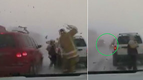 Slidžiame kelyje partrenktas pareigūnas vos išvengė tragedijos – perspėjama apie pavojų