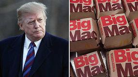 Donaldas Trumpas nutuko: per metus priaugti kilogramai perkėlė jį į kitą svorio kategoriją