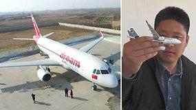 Neįtikėtina: kinas pats sukonstravo realaus dydžio lėktuvą ir taip išpildė savo vaikystės svajonę