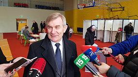 Rinkimuose balsavęs Seimo pirmininkas V.Pranckietis: noriu, kad laimėtų kuo daugiau demokratijos