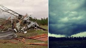 Pražūtingas tornadas nusiaubė Alabamą: nusinešė mažiausiai 22 gyvybes ir pridarė katastrofiškos žalos