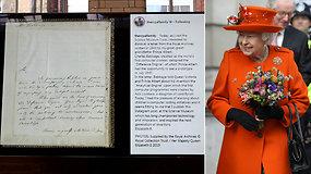 """Karališkas įrašas: Karalienė Elizabeth II pirmą kartą pasidalijo nuotrauka """"Instagram"""""""