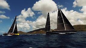 """""""Ambersail 2"""" įgulos kapitonas: pirmą kartą gyvenime fiziškai aplenkėme mūsų didįjį konkurentą jachtą """"Sojana"""""""