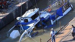Iš Dunojaus dugno ištrauktas nuskendęs turistinis laivas – rasti kelių žuvusiųjų kūnai