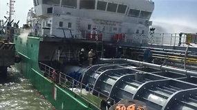 Rusijos Machačkalos prekybos uoste nugriaudėjo sprogimas