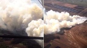 Nufilmuotas grėsmingas gaisras durpyne – dūmai gali užgulti Šilutę ir aplinkinius kaimus