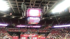 NBA mačą nutraukęs žemės drebėjimas Las Vegase 15min akimis