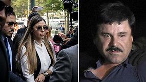 """Meksikiečių narkotikų barono """"El Chapo"""" žmona atvyko į teismą – vyras kalės iki gyvos galvos"""