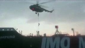 Paviešintas vaizdo įrašas, kuriame užfiksuota, kaip Irano komandosai perima Britanijos tanklaivį
