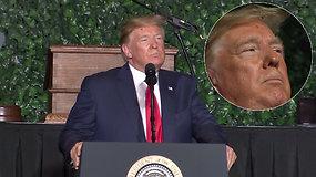 Akyli internautai nerimsta: kuriozas su D.Trumpo šukuosena vėl sukėlė šurmulį