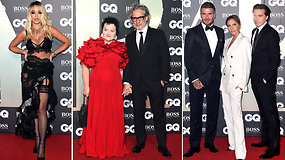 """Žurnalo """"GQ"""" apdovanojimuose – būrys garsenybių: raudonu kilimu žengė ir Dalia Ibelhauptaitė su vyru"""