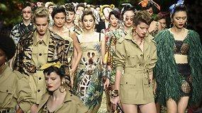 """Mados namų """"Dolce & Gabbana"""" kolekcijos pristatymas virto prašmatniomis džiunglėmis"""