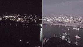 Netikėtai nušvitęs naktinis dangus nustebino gyventojus – ekspertai informavo apie grėsusį pavojų