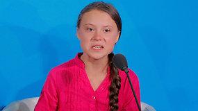 """Įsiutusi Greta Thunberg su ašaromis akyse kreipėsi į pasaulio lyderius: """"Kaip jūs drįstate?"""""""
