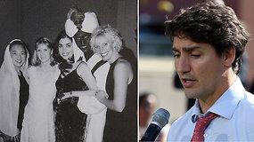 Rasistiniame skandale atsidūręs J.Trudeau neslėpė susijaudinimo: nežino, kiek kartų tamsiai nusigrimavo veidą