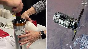 Į Tarptautinę kosmoso stotį atgabenti 12 butelių vyno, bet astronautai jo paragauti negaus