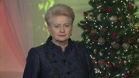 Kadenciją baigusi prezidentė Dalia Grybauskaitė Naujais metais linki ryžto ir drąsos