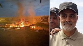 Bagdade per JAV smūgį nukautas svarbus Irano sukarintų pajėgų vadas Q.Soleimani – žada keršyti