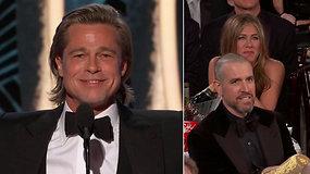 Jennifer Aniston reakcija į buvusio mylimojo Brado Pitto kalbą ištirpdė internautų širdis