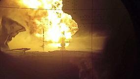Rusijoje nesuvaldomas naftos gręžinio gaisras buvo gesinamas prieštankiniu pabūklu