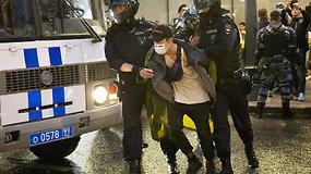 Maskvoje įvyko protestas prieš V.Putiną: policija sulaikė per 140 asmenų