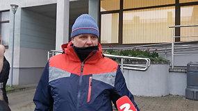 Dėl kaukės nedėvėjimo teisiamas plungiškis Vladas Bertašius į teismą taip pat atvyko be kaukės