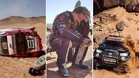 Pervažiuotas motociklas, gedimai ir avarijos – svarbiausi Dakaro dienos įvykiai su Arnu Paliukėnu