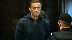 Maskvos teisme sprendžiama dėl A.Navalno lygtinės bausmės pakeitimo realia laisvės atėmimo bausme