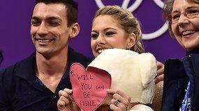 Olimpietė I.Januškevičiūtė laukia Šv. Valentino palinkėjimų – olimpinis miestelis švenčia meilės dieną