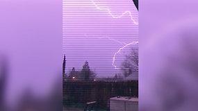 Gamtos stichijų šėlsmas Kalifornijos dangų nudažė violetine spalva