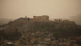 Atėnus padengė iš Sacharos dykumos atkeliavusios dulkės
