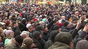 Kemerove įvyko tylus protestas dėl gaisro prekybos centre