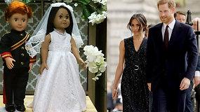 Prieš artėjančias karališkas vestuves – Princo Hario ir Meghan Markle lėlės