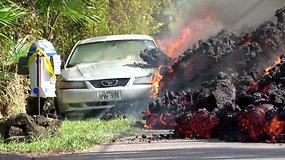 Kilauėjos ugnikalnis nenustoja niokoti Havajų gyvenvietės