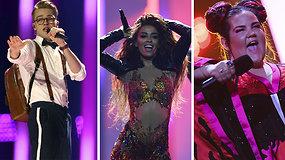 """Pamatykite pirmojo """"Eurovizijos"""" pusfinalio generalinės repeticijos pasirodymų ištraukas"""