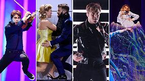"""Pasižiūrėkite, kaip atrodys galimi I.Zasimuskaitės varžovai – antrojo """"Eurovizijos"""" pusfinalio generalinė repeticija"""