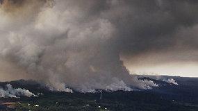 Kilauėjaus ugnikalnis spjaudosi šaltos lavos gabalais – toks reiškinys vyko tik prieš šimtmetį